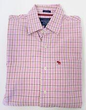 Abercrombie & Fitch,Neuwertig,Herren,Hemd,Pink,Kariert,M(USA),Gr.50-52