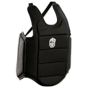 Ultra Lite Chest Guard Body Protector for Karate Tae Kwon Do Youth Adult - Black