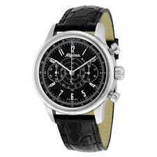 Alpina Heritage Pilot Chronograph Black Dial Leather Men's AL-860G4H6