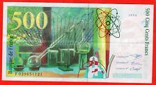 1994 Billet 500 francs Pierre et Marie Curie, type 1993 modifié n° F 029651121