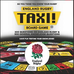 Taxi Board Game England Rugby 2020 Release