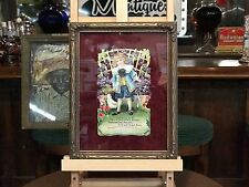 """Early 1900's Grocery Store Die-Cut Framed Ad  """"Watch Video"""""""
