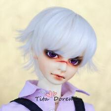 1 3 8-9 Bjd Wig Dal Pullip BJD SD LUTS DOD DOC DD Dollfie Doll wigs white short