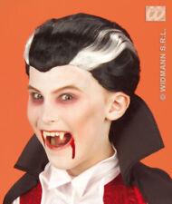 Complementos negros de pelo sintético para disfraces y ropa de época, vampiros