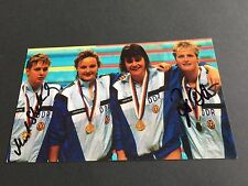 DDR 4x100m FREISTIL OLYMPIASIEGER 1988 signed Photo 10x17