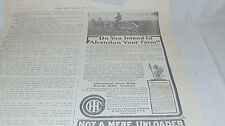 1911 Original International Harvester Company And Other Advertising