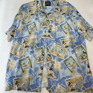 Disney Parks Tommy Bahama Silk Shirt Mickey Mouse Large