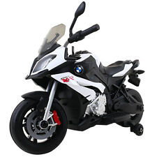 Kids Ride On Motorcycle Licensed BMW 12V Battery Powered Toy w/Training Wheel