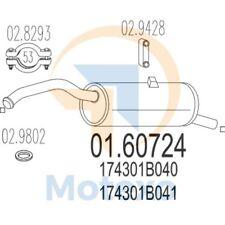MTS 01.60724 Exhaust TOYOTA Starlet 1.3i 16V 75bhp 01/96 - 07/99