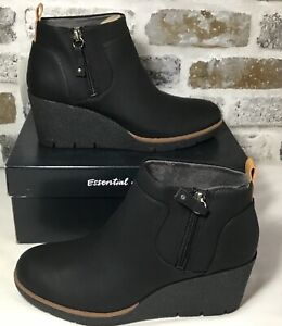 Dr Scholl's ~ Women's Size 7 M Bianca Black Wedge Bootie Fashion Boot NWT