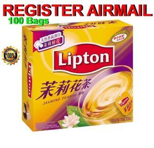 Lipton Jasmine Tea Bag TeaBags Box of 100 packs Hong Kong Chinese Style