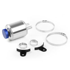 Universal Aluminum Racing Power Steering Fluid Reservoir Tank + Clamps Kit