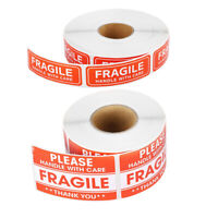 100/200X Fragile Stickers Handle with Care Thank You Warning Label Tag Craft DIY
