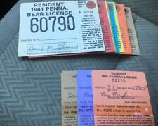 1981 To 1999 P.A. Resident Bear Hunting Licenses