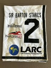 Pony Up Sir Barton Stakes Saddle Cloth Preakness Undercard