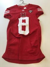 Game Worn Used Miami Red Hawks Football Jersey Adidas Med 1AC #8