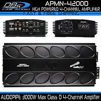 AUDIOPIPE APMN-4200D Mini 4 Channel Car Motorcycle Amplifier 3000W 4CH Micro Amp