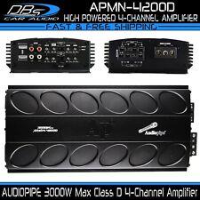 AUDIOPIPE APMN-4200D 4 Channel Car Audio Amplifier 3000W 4CH Stereo Speaker Amp