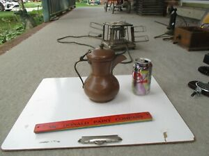 """Brass Copper Coffee Pot  Dallah 8"""" tall Looks to be Russian"""