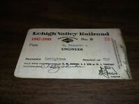 1947-1948 LEHIGH VALLEY RAILROAD EMPLOYEE PASS #22