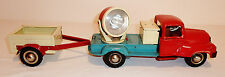 BERKENKAMP & SCHLEUTER Germany Tin BaOp 1950s SEARCHLIGHT TRUCK & TRAILER ~ 19""