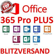 Microsoft Office 365 | Für 5 PC /MAC | Office Professional Plus 2016 | Dauerhaft