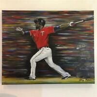 "Miguel Sano Minnesota Twins Original Canvas Painting 16""x20"" Amy Marie Art!"