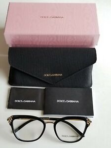 Brand New Dolce&Gabbana Women's Designer Black/Gold Prescription Eyeglass Frames