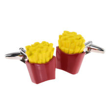 Coloured French Fries Chips Cufflinks Presented in a Box - X2PSN189