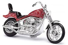 Motocicleta los E.E.U.U. American Motocicleta U.S.-Bike 1:87 rot rojo metálico