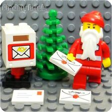 RX13 Lego Santa Minifigure with Christmas Tree Letters & Mail Box NEW