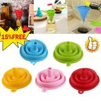 COLLAPSIBLE SILICONE FUNNEL Foldable Silicon Kitchen Hopper Practical Tools HOT