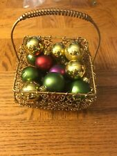 Christmas Basket With Ornaments