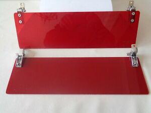 Classic Mini Sun Visors - red tint perspex*new*