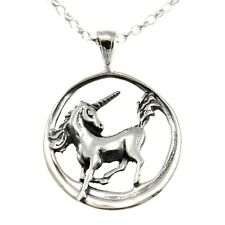 """Sterling Silver Unicorn Pendant with 18"""" Chain & Box"""