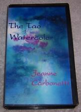 The Tao of Watercolor VHS Video Jeanne Carbonetti painting art instruction