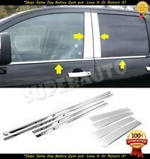 FOR 2004-2015 NISSAN TITAN CREW CAB STAINLESS WINDOW SILLS+DOOR PILLAR TRIMS