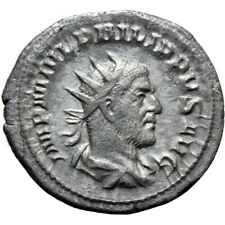ROMAN COIN SILVER ANTONINIANUS PHILIP I THE ARAB ROME 246-247 AEQVITAS AVGG