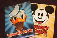 Lot of TWO Books: Mickey Mouse & Donald Duck Walt Disney Tribute Books 1977 1979