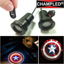 CHAMPLED CAPTAIN AMERICA Projector Logo Shadow Car Light Emblem Replacement Film