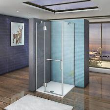 80cm Porte de douche pivotante pliante avec 80cm Pario de douche verre sécurit