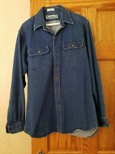 Thornton Bay heavy denim long sleeve shirt size small