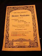 Partizione Di Dettato Musicale 3 ° volume Gédalge