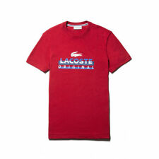 Brand New Men's Red Lacoste Graphic Tee Size 3XL Very Nice!!!