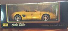 Maisto Special Edition Mustang Mach Iii Yellow 1:18 scale 31815 Nib