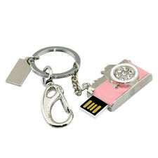 Metal Key Chain Crystal Camera USB 2.0 Flash Drive Storage Photographers Gift