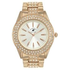 US Beverly Hills Polo Club Women's Rhinestone Accented Dial Rose-gold-Tone Watch