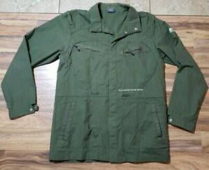 Nike ACG All Conditions Wear Green Snap Button Light Jacket Sz L