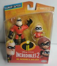 """Disney The Incredibles 2 Mr.Incredible & Jack-Jack Action Figure 2-Pack3"""" Tall"""