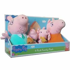 Peppa Pig 4 Pack Peppa's Family Soft Plush Toy Dolls Mummy Daddy George